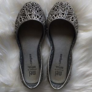 Dreamed by Melissa Glitter Jelly Flats size 11